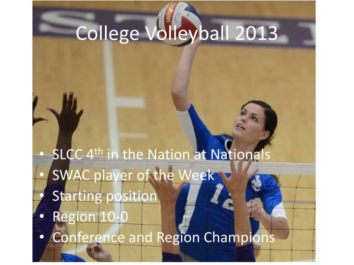 College Volleyball 2013