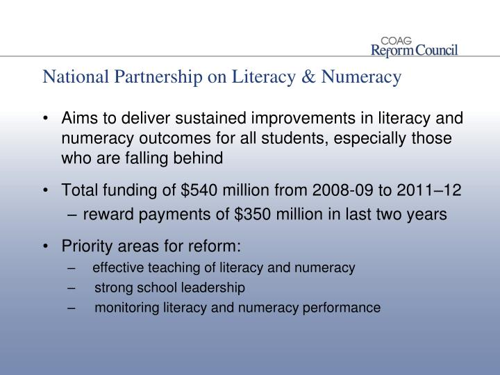 National Partnership on Literacy & Numeracy