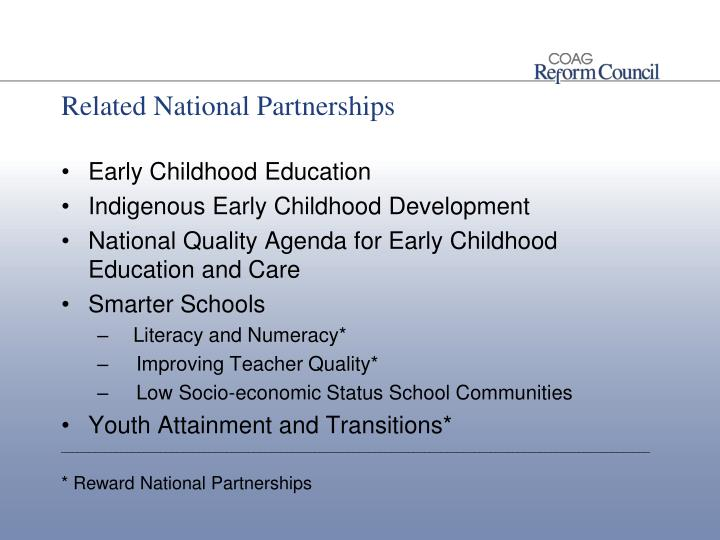 Related National Partnerships