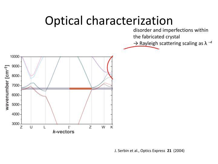 Optical characterization