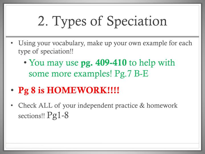 2. Types of Speciation