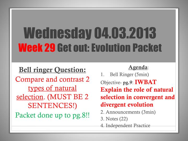 Wednesday 04.03.2013