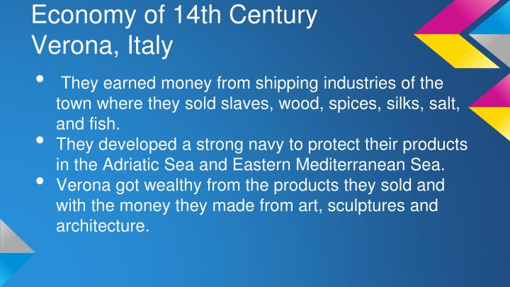 Economy of 14th Century Verona, Italy