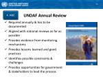 undaf annual review