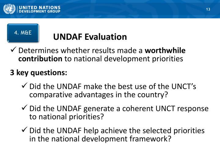 UNDAF Evaluation