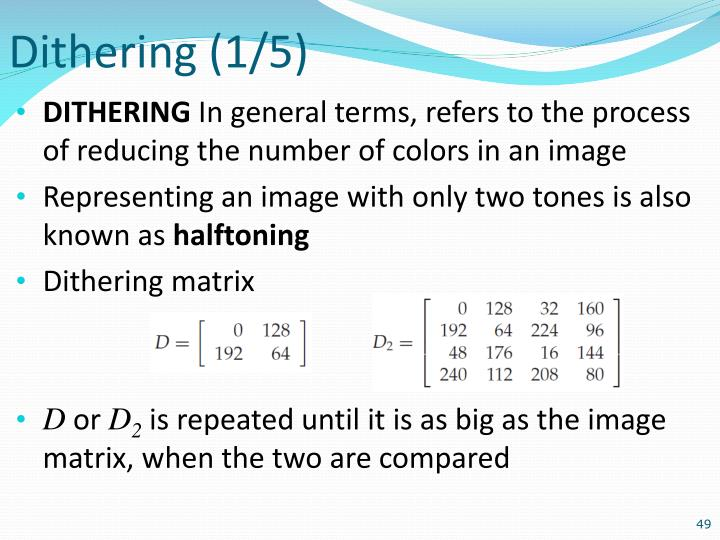 Dithering (1/5)