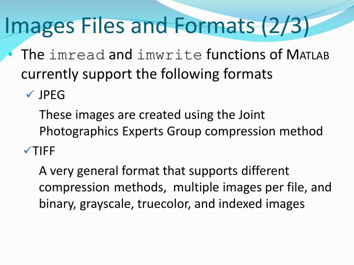 Images Files and Formats (2/3)