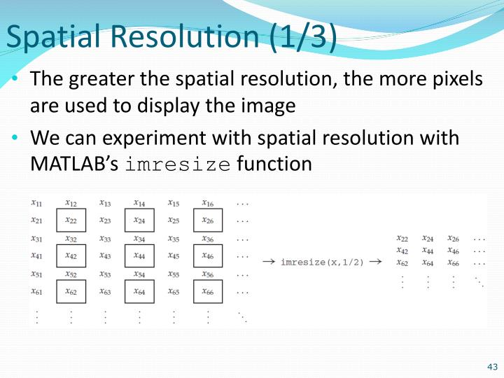 Spatial Resolution (1/3)