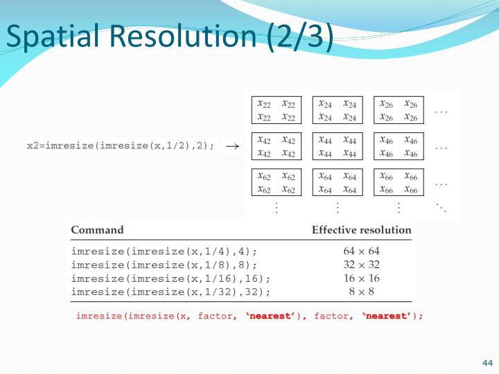 Spatial Resolution (2/3)