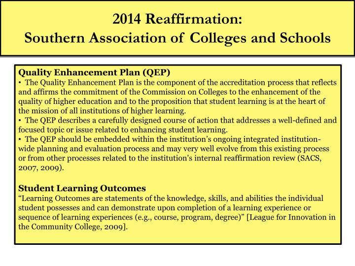 2014 Reaffirmation: