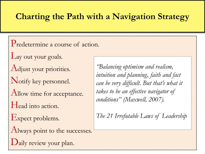 Charting the Path with a Navigation Strategy