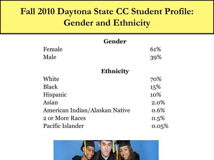 Fall 2010 Daytona State CC Student Profile: