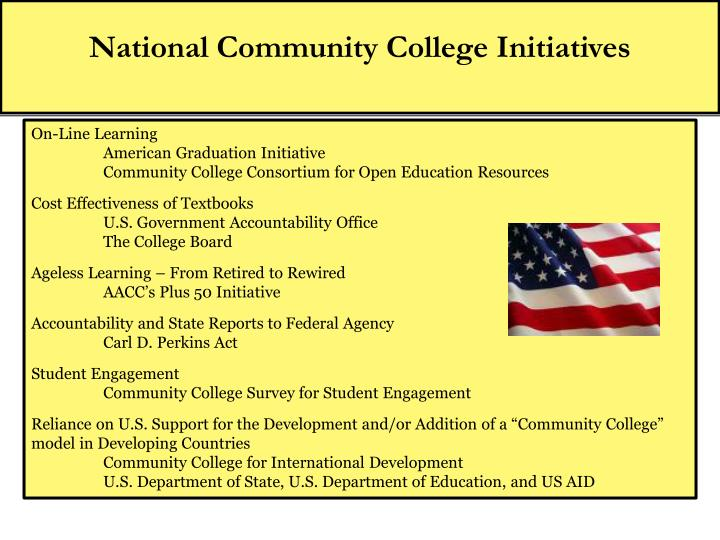National Community College Initiatives