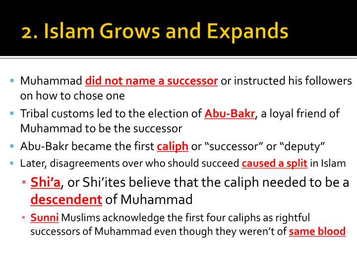 2. Islam Grows and Expands