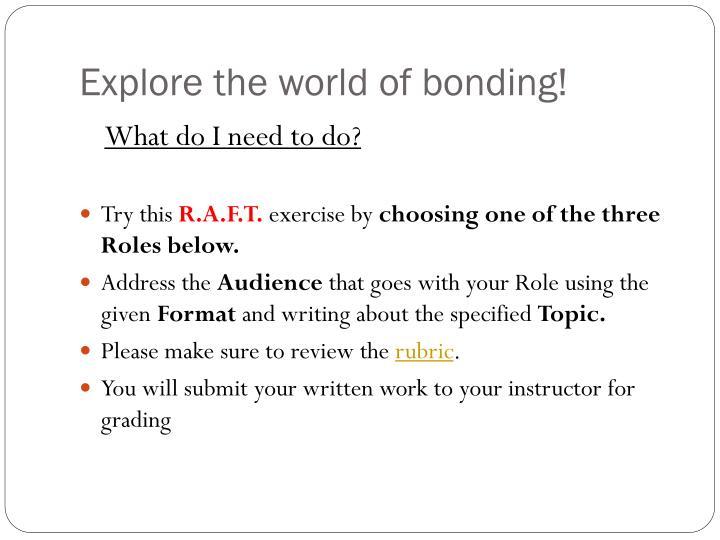 Explore the world of bonding!