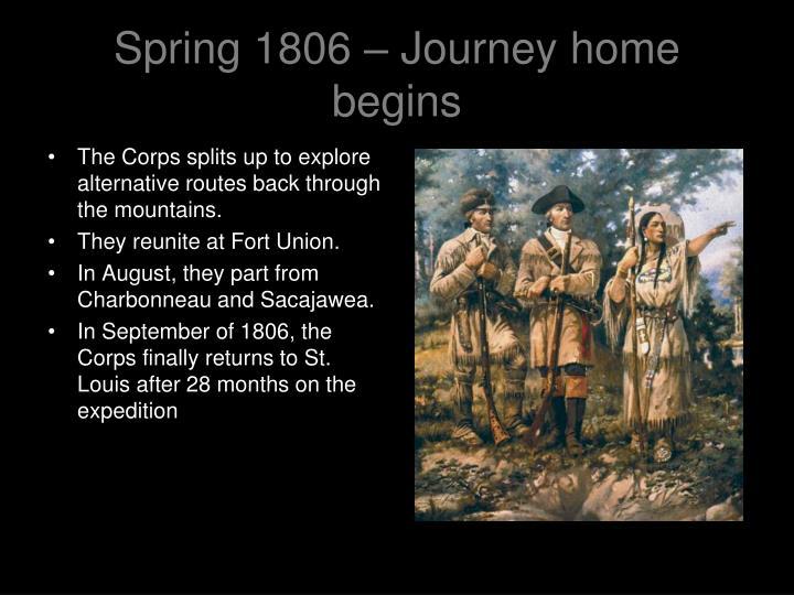 Spring 1806 – Journey home begins