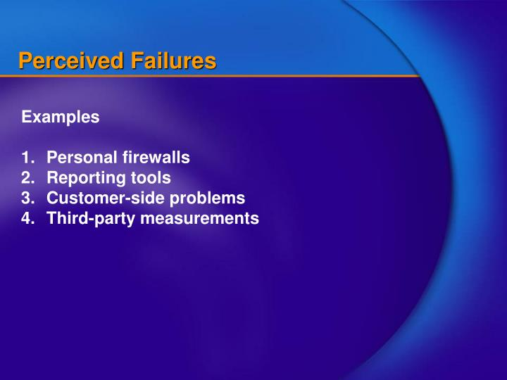 Perceived Failures