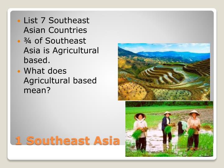 List 7 Southeast Asian Countries
