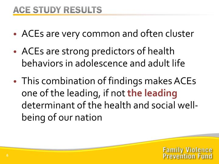 ACE STUDY RESULTS
