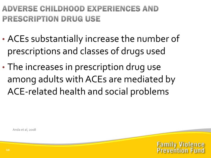 ADVERSE CHILDHOOD EXPERIENCES AND PRESCRIPTION DRUG USE