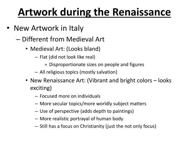 Artwork during the Renaissance