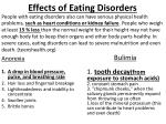 effects of eating disorders