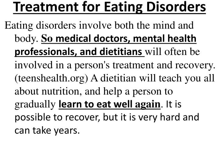 Treatment for Eating Disorders