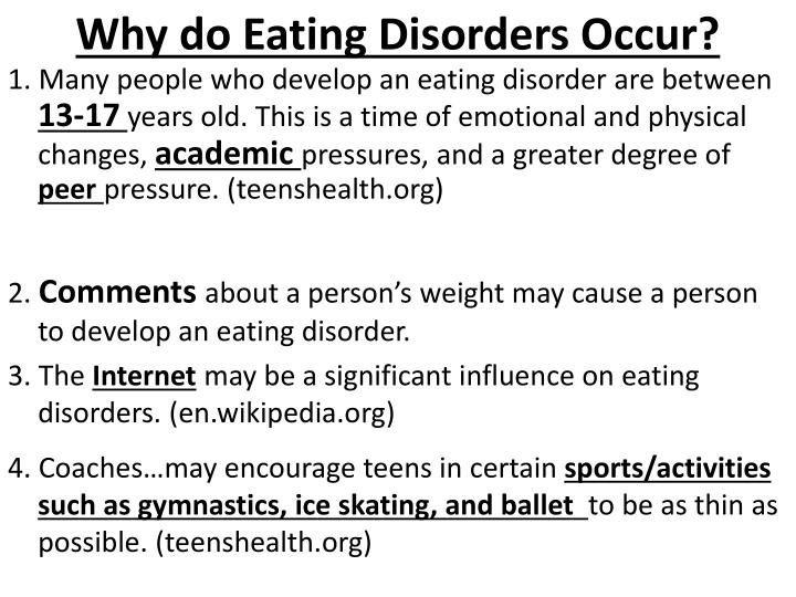 Why do Eating Disorders Occur?