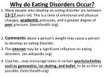 why do eating disorders occur