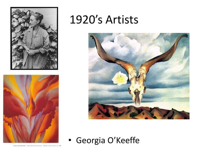 1920's Artists