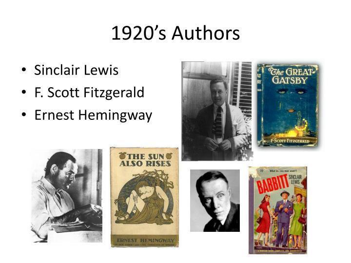 1920's Authors