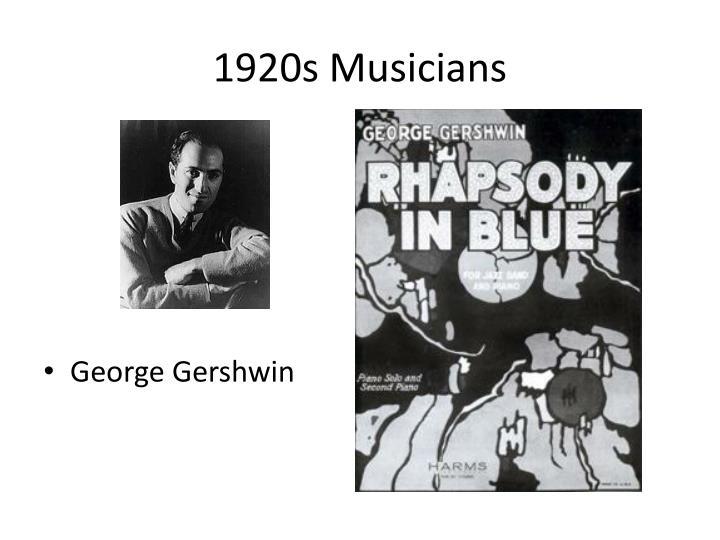 1920s Musicians