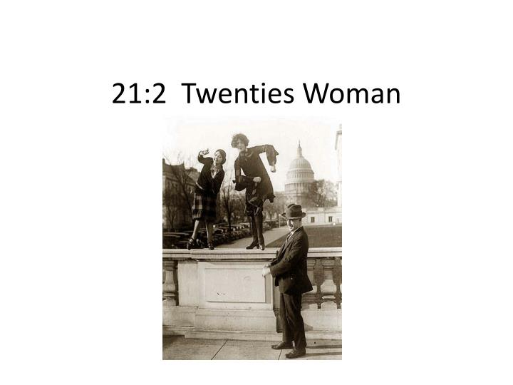 21 2 twenties woman