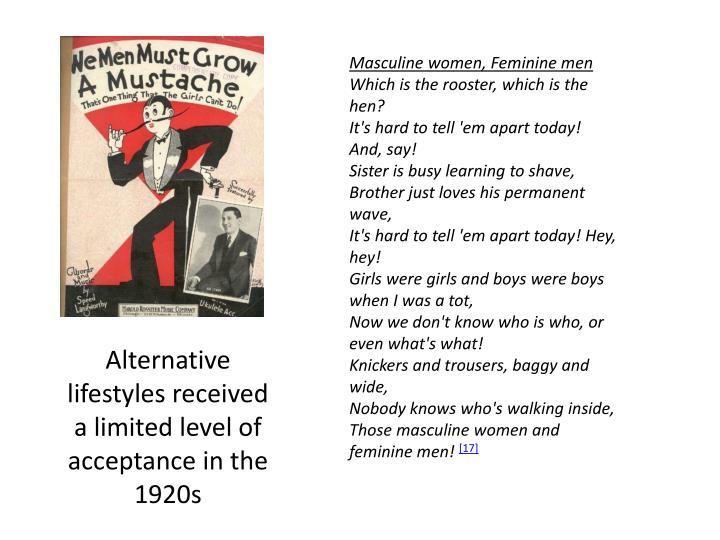 Masculine women, Feminine men