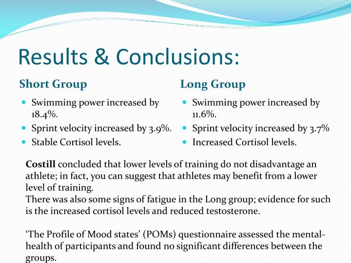 Results & Conclusions: