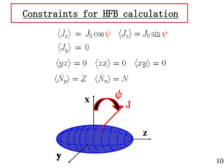 Constraints for HFB calculation