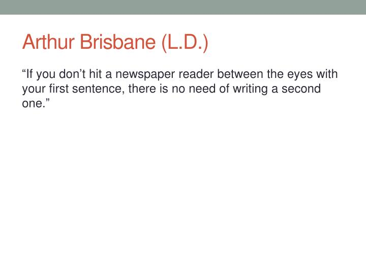 Arthur Brisbane (