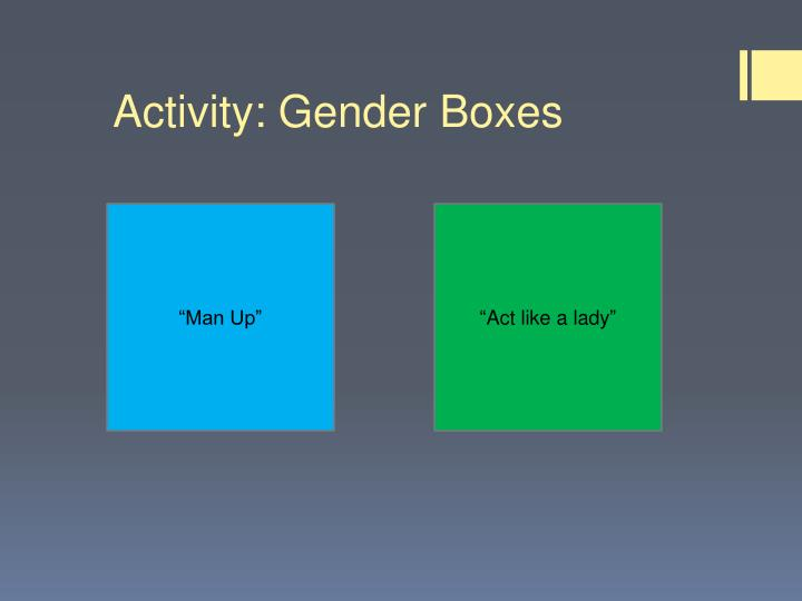 Activity: Gender Boxes
