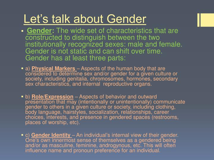 Let's talk about Gender