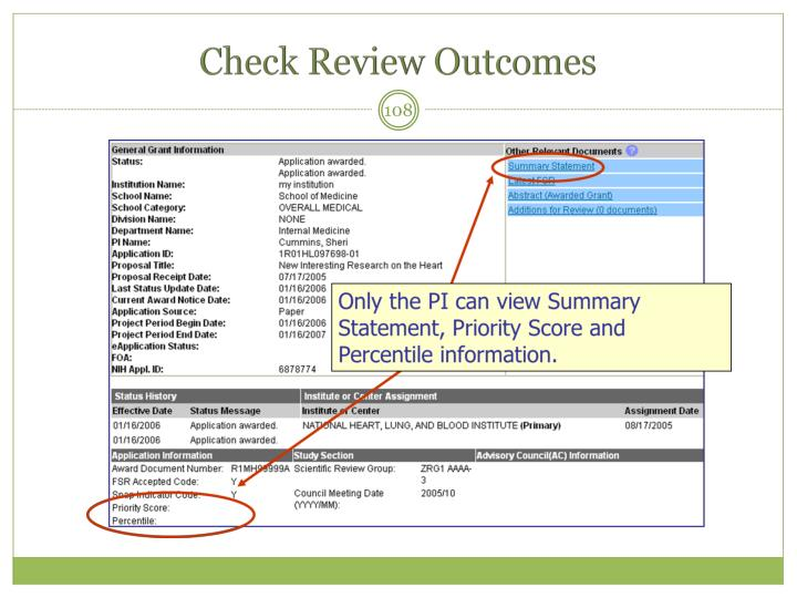 Check Review Outcomes
