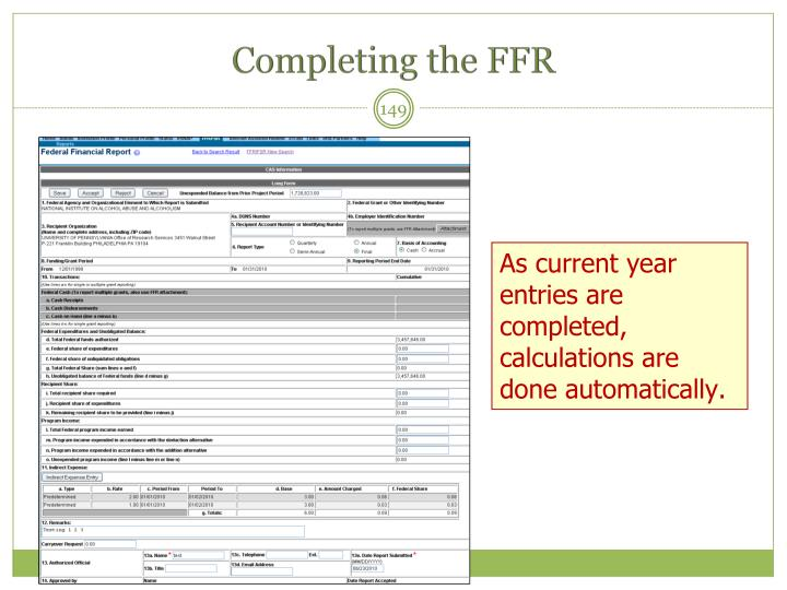 Completing the FFR