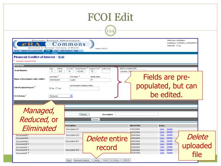 FCOI Edit