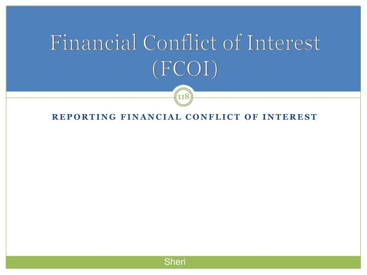 Financial Conflict of Interest