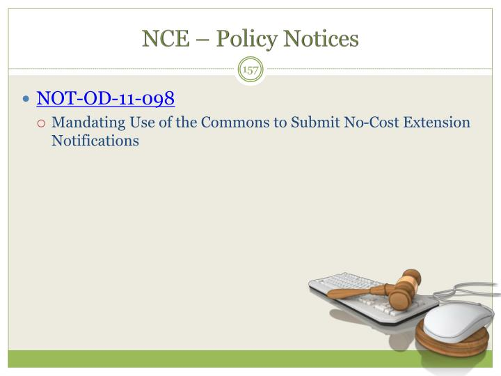 NCE – Policy Notices