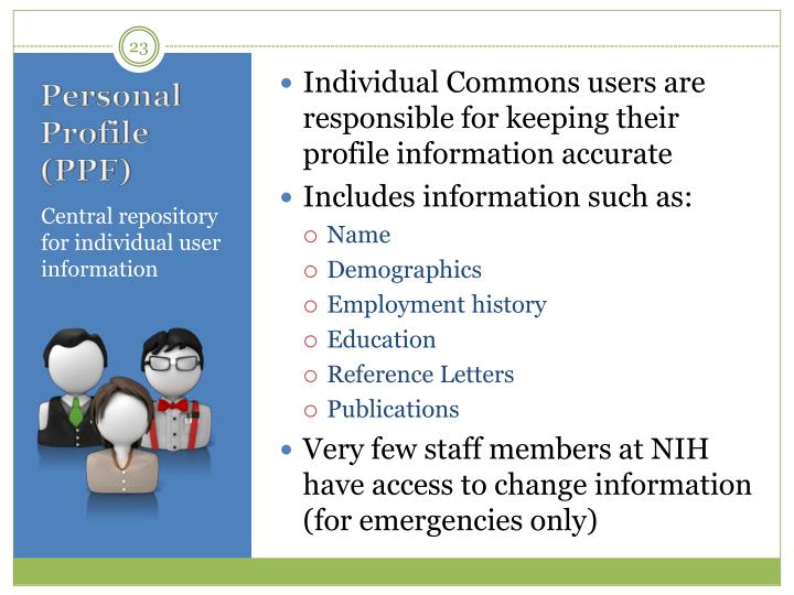 Individual Commons users are responsible for keeping their