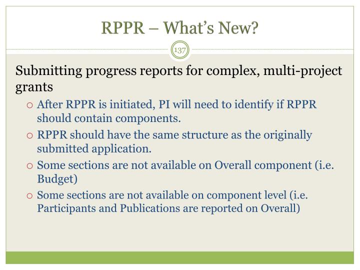 RPPR – What's New?