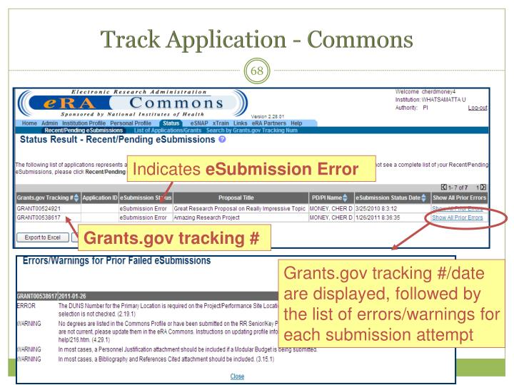 Track Application - Commons