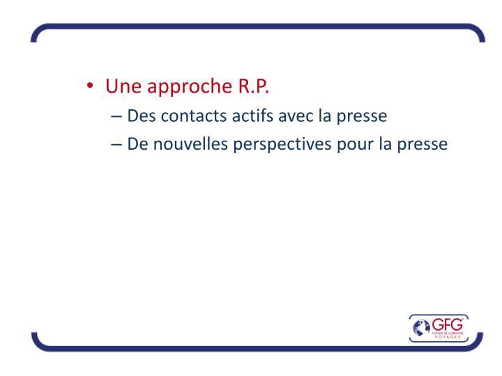 Une approche R.P.