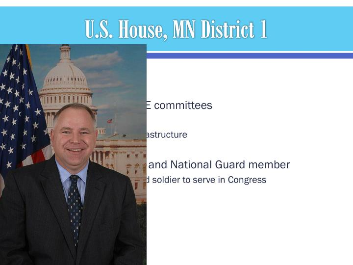 U.S. House, MN District 1