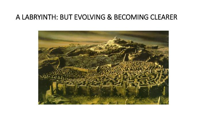 A labryinth but evolving becoming clearer
